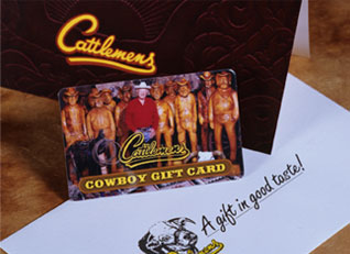 Sample Cattlemens gift cards