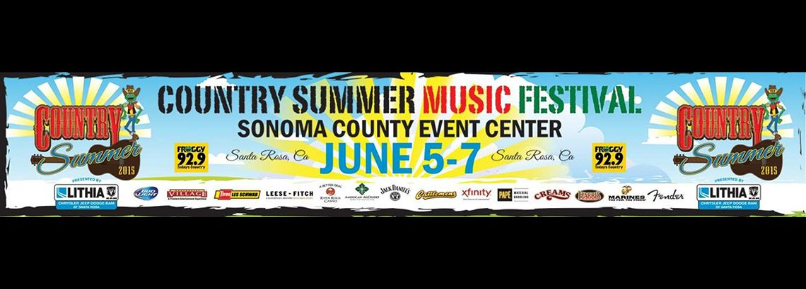 Country Summer Music Festival. Sonoma County Event Center. June 5-7.
