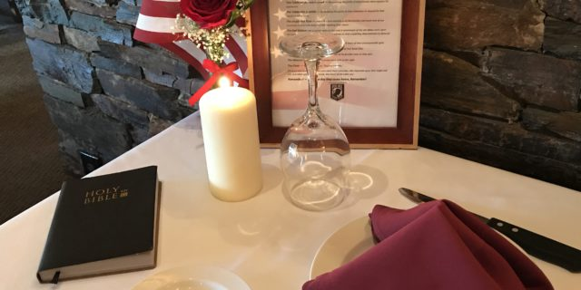 Missing Man Table at Santa Rosa Cattlemens