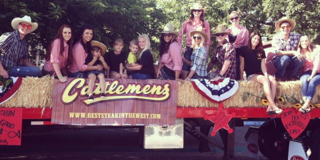 Cattlemens staff on parade float