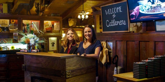 Manager and hostess employee at Cattlemens