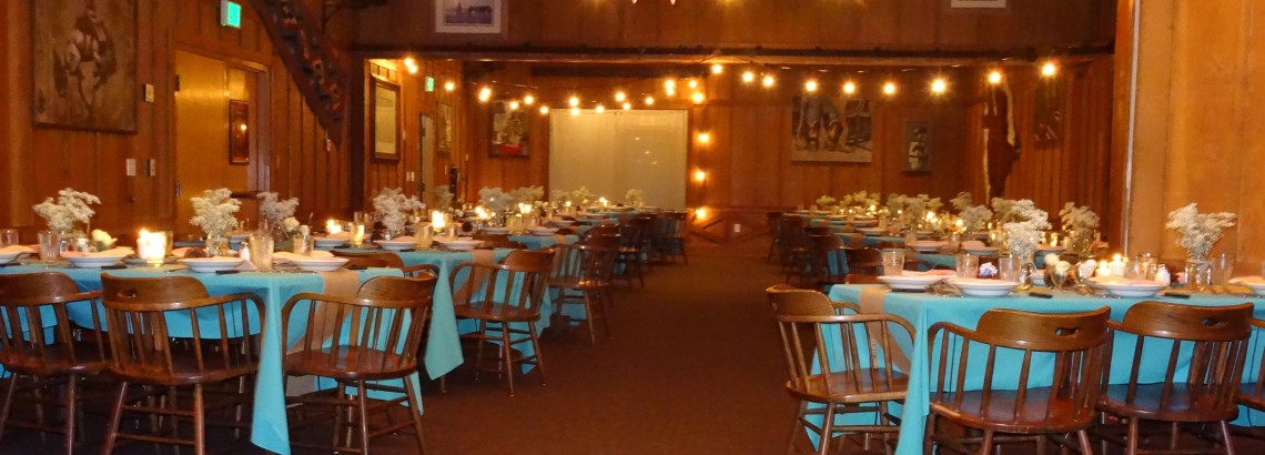 redding banquet room decorated