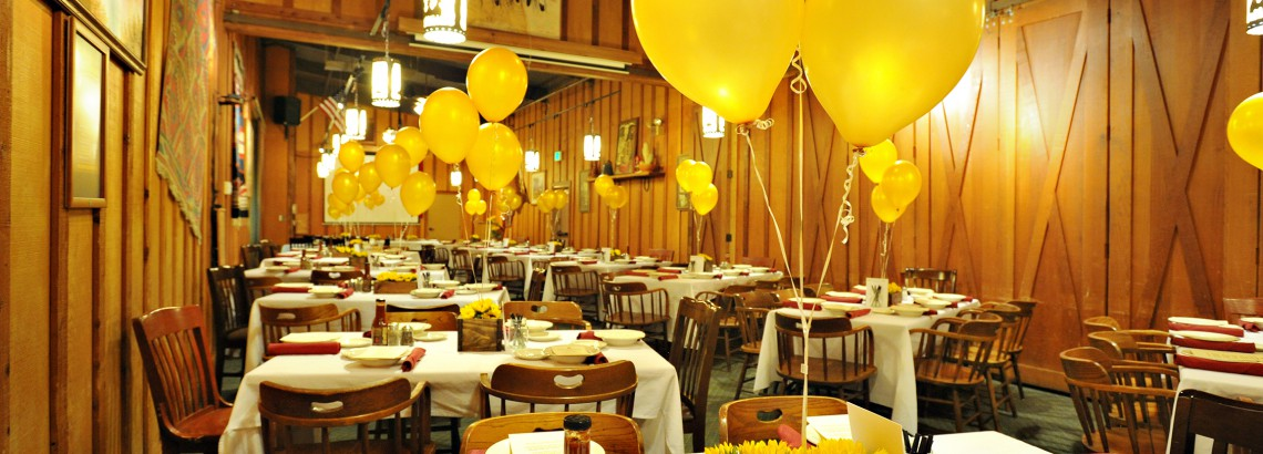 Sample party setting