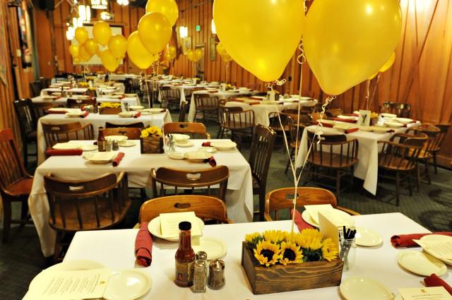 Rancho Cordova Banquet Room Decorations