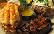 8 ounce sirloin with lobster tail dinner