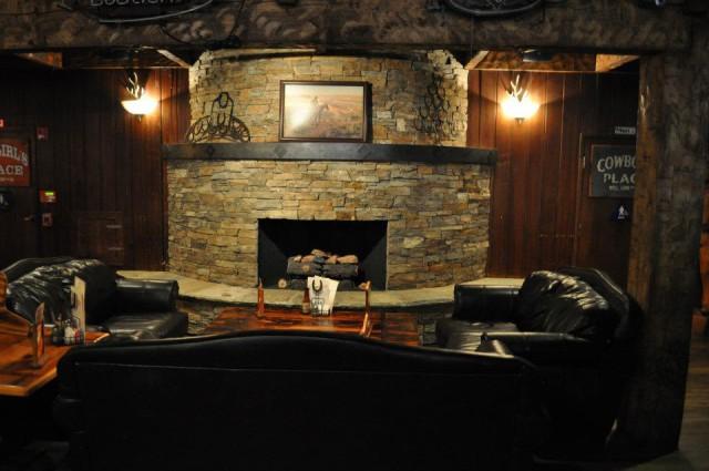 Santa Rosa Saloon Fireplace