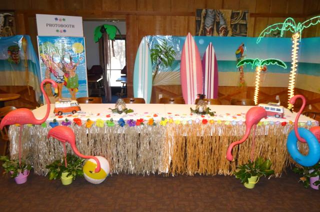 Redding Cattlemens Retirement Aloha decorations