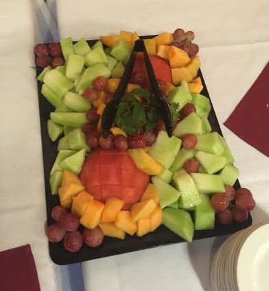 fruit platter at selma ribbon cutting cermony