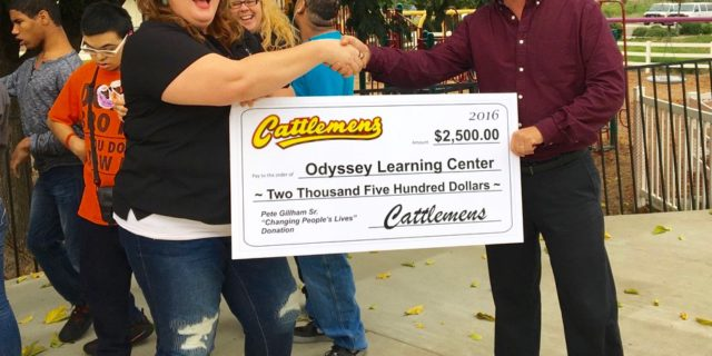 Cattlemens Donation to Odyssey Learning Center