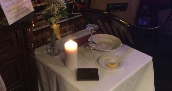 Missing Man table at Cattlemens location in honor or Veterans Day