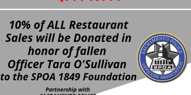 fundraiser flyer for Fallen Sacramento Officer Tara O'Sullivan