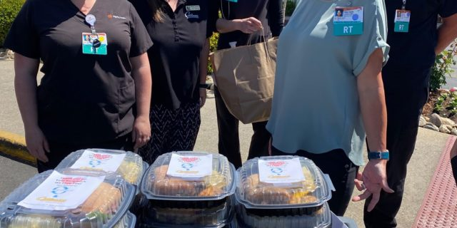 MeterSwap & Cattlemens donate meals to front line workers.